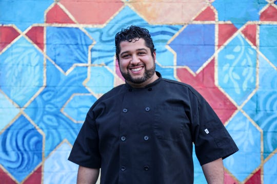 Saffron De Twah chef-owner Omar Anani outside his eastside Detroit restaurant on December 13, 2019.