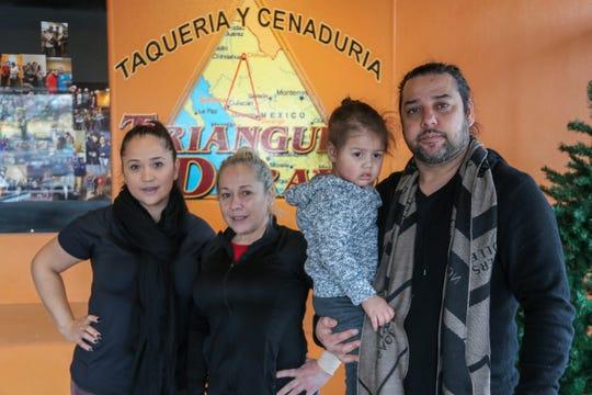 The family behind Triangulo Dorado: (from left) Karina and Esparanza Rocha and Karian and Santiago Torres.