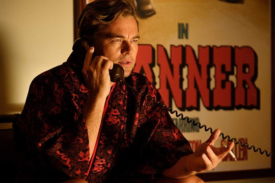 "Leonardo DiCaprio in ""Once Upon a Time in Hollywood."""