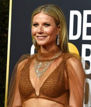 Gwyneth Paltrow arrives at the 77th annual Golden Globe Awards at the Beverly Hilton Hotel on Sunday, Jan. 5, 2020, in Beverly Hills.