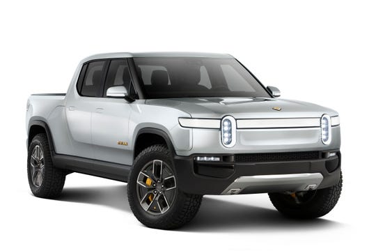 Rivian R1T electric pickup.