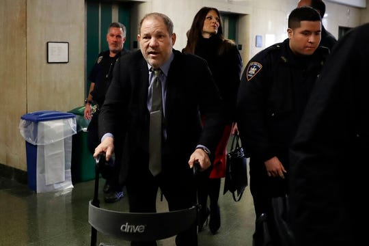 Harvey Weinstein arrives at court in his rape trial, in New York, Friday, Feb. 7, 2020.