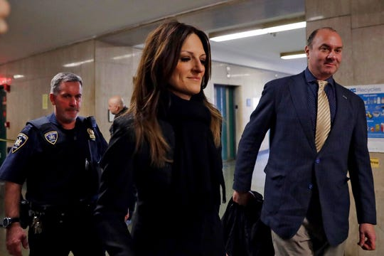 Defense attorney Donna Rotunno arrives for the Harvey Weinstein rape trial, in New York, Friday, Feb. 7, 2020.