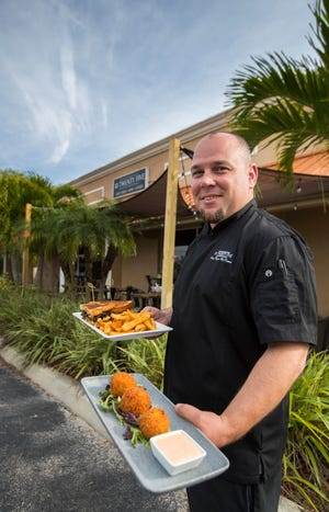 Chef Ryan McKenna of 10 Twenty Five in Cape Coral displays sample dishes that will be available at the Taste of The Cap.
