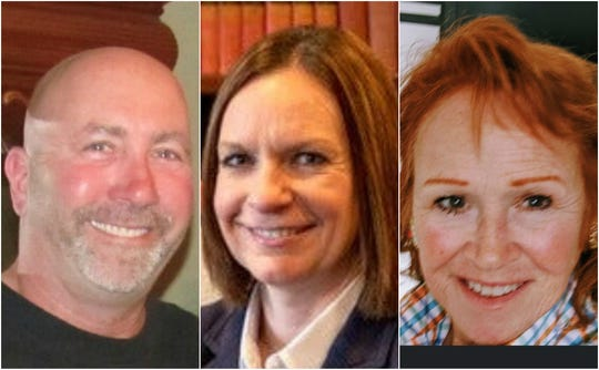 Candidates for De Pere City Council, from left: Matt Gruetzmacher, Kelly Ruh, Carol Spice