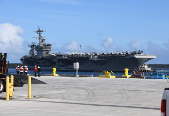 In a letter to Gov. Lou Leon Guererro, community groups cited concern regarding 36 cases of COVID-19 on the USS Theodore Roosevelt, which is now docked on Guam, and other Defense Department decisions on Guam related to the coronavirus.