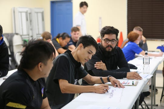 "Antonio Prieto, takes part in group work during the Guam Football Association ""D"" License Course held at GFA from Feb. 1-3 at the Guam Football Association National Training Center."