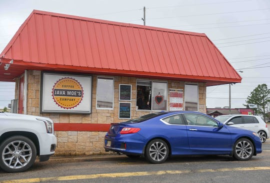 Java Moe's, 4400 Hardy St. in Hattiesburg, Miss., offers drive-thru coffee services daily, pictured here, Feb. 6, 2020.
