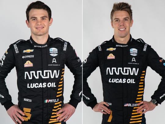 Patricio O'Ward (left) and Oliver Askew (right) will drive the two full-season cars for Arrow McLaren SP in 2020.