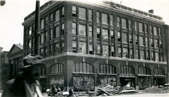 The transformation of the Treman King building  through the years.