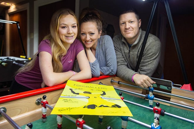 Terry, Keisha and Sullivan Rue of Crowley are world-renowned foosball players featured in a new documentary set for release this week.  Thursday, Feb. 6, 2020.