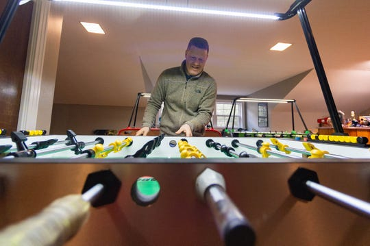 Terry Rue and his family are world-renowned foosball players featured in a new documentary.  Thursday, Feb. 6, 2020.