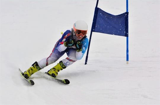 Brighton's Maddie Carrico won slalom and took second in giant slalom in the Mt. Brighton Championships.