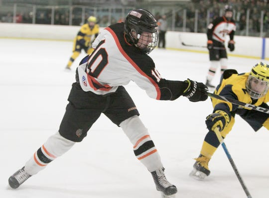 Will Jentz scored two goals for Brighton in a 5-0 victory over Grand Rapids Catholic Central.