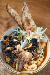 The berbere seafood stew dish at Hearth on Mellwood Eatery on Mellwood Avenue on Feb. 6, 2020.
