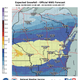 Snow is forecast for the upcoming weekend, with the highest accumulation expected over central Wisconsin.