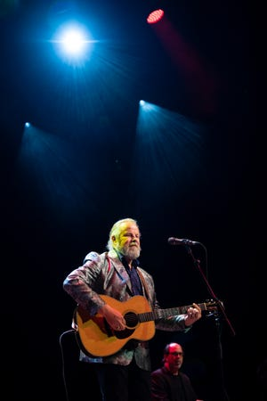 Robert Earl Keen performs at the Ryman Auditorium, opening for Tyler Childers, in Nashville, Tennessee, Thursday, Feb. 6, 2020.