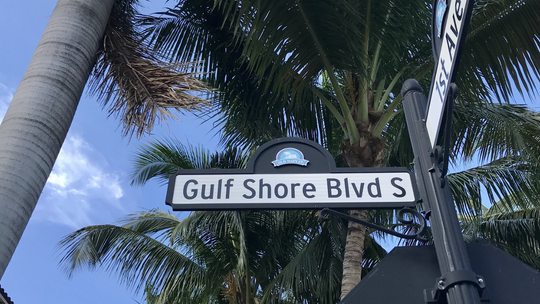 A Gulf Shore Boulevard street sign pictured in February 2020.