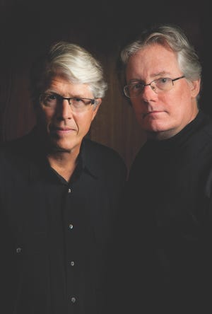 "Authors Douglas Preston, left, and Lincoln Child. They'll be talking about their new book, ""Crooked River,"" and signing copies at the Barnes & Noble at Waterside Shops in Naples on Monday, Feb. 10, 2020."