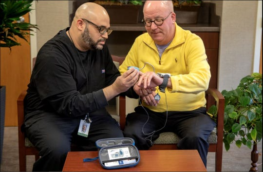 Members of the sleep study team at Holy Name meet with each patient to determine what type of sleep test, like the at-home WatchPAT, is appropriate.