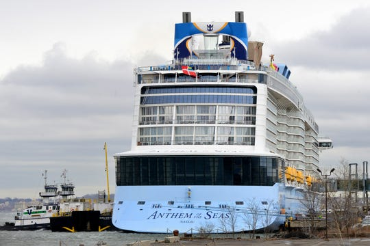 Royal Caribbean cruise ship docked at the Cruise Ship Terminal in Bayonne, N.J. on Friday Feb. 7, 2020.