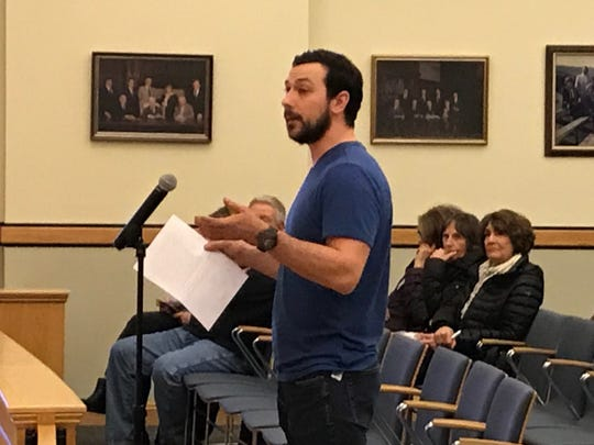 Jeff Buchak, owner of the Masonicus Road property claimed to contain a second wetlands, tells the Mahwah Township Council his land only pools after rainstorms and is not a wildlife habitat. Feb. 6, 2020.