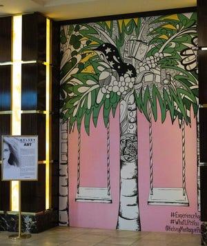 Kelsey Montague Mural at Agua Caliente Resort