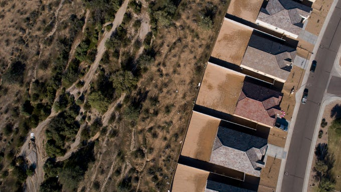 The Tartesso community development borders the desert in Buckeye. It's one of the last noticeable developments on the way out of the Phoenix area.