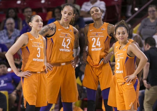 The Phoenix Mercury could be facing the end of the current Big Three era with DeWanna Bonner (24) free to sign with any WNBA team.
