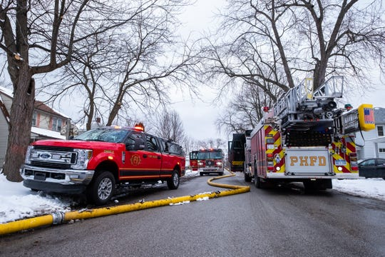 Crews responded to a fire in the 1200 block of Wall Street Friday, Feb. 7, 2020, in Port Huron. No injuries were reported.