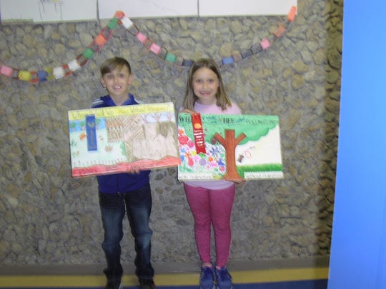 Fourth grade Conservation Poster Contest Winners for Veribest Elementary are, from left, Tucker Martin, first place, second place; Klaire Wilde, third place, Dyanna Ramirez (not shown). All three students are in Mrs. Shanna Treadaway, 4th grade class (not shown).