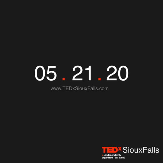 Countdown to TEDx Sioux Falls 2020.