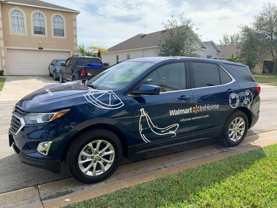 Walmart uses its own cars and associates for its latest InHome Delivery service. Customers and onlookers can easily identify associates partaking in the delivery and can feel a sense of reassurance, said Whitney Pegden, head of operations for InHome Delivery.