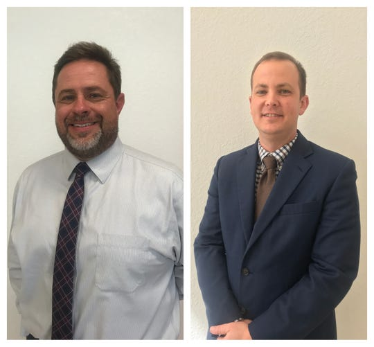 Scott Bass (left) and Richard Myhre (right) will serve as deputy superintendent and assistant superintendent for the Indian River County school district.
