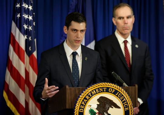 John F. Bash, U.S. Attorney for the Western District of Texas, announces federal hate crime charges against El Paso Walmart mass shooter Patrick Crusius during a press conference Thursday, February, 2, 2020 at the Federal Building in El Paso, Texas.