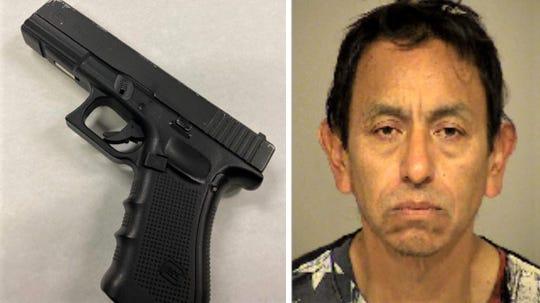 Fernando Morales Lopez and the replica gun that nearly got him shot, according to Oxnard police.