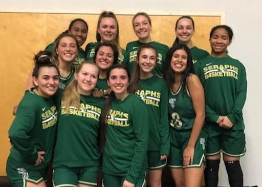 The St. Bonaventure girls basketball team finished as Tri-Valley League tri-champion with Grace Brethren and Santa Clara.