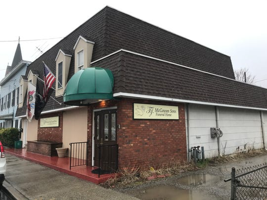 T.J. McGowan Sons Funeral Home at 133 Broadway in Haverstraw on Friday, Feb. 7, 2020, the day after, officials said, one funeral home employee shot and killed another employee, then was shot by a third person.  The fatal shooting occurred in the funeral home's back parking lot.