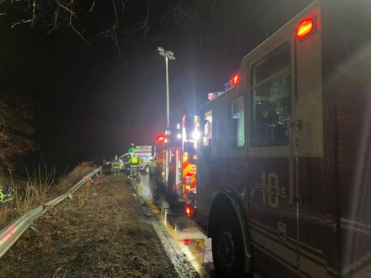 The Bedford Hills Fire Department responded to a crash on the Saw Mill River Parkway early Friday, Feb. 7, 2020.