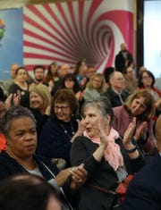 People listen as Rockland County Executive Ed Day gives his annual state of the county address at the Palisades Center mall in West Nyack Feb. 6, 2020.