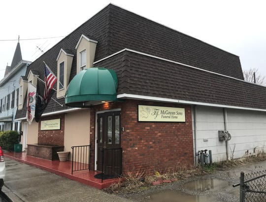 T.J. McGowan Sons funeral home in Haverstraw, where a fatal shooting occurred the night before Feb. 7, 2020.
