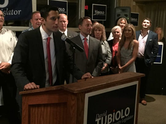 David Tubiolo on Aug. 9, 2016  among Republicans after winning his first election.