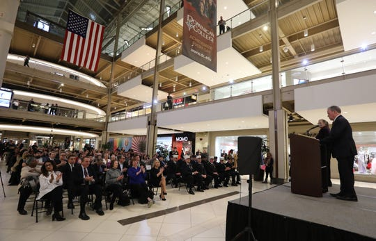 Rockland County Executive Ed Day gives his annual state of the county address at the Palisades Center mall in West Nyack Feb. 6, 2020.