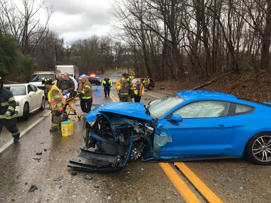 Miltown Road is currently shut down for a three-car wreck that injured at least one person.