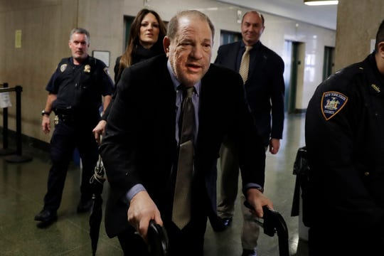 Harvey Weinstein arrives at court in New York on Feb. 7.