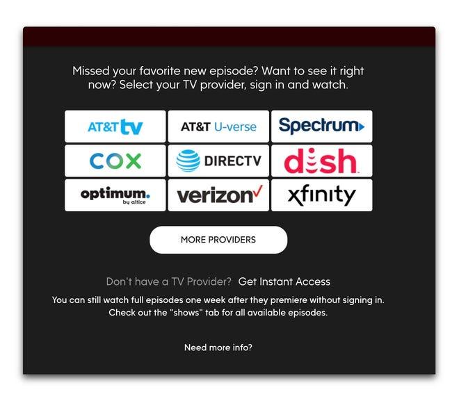 ABC demands authentication for viewing