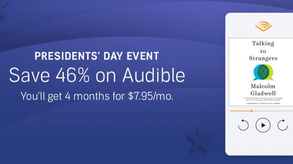 Book lovers are in for a real treat thanks to this deal on Audible subscriptions happening for Presidents Day.