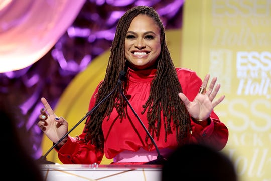 Director Ava DuVernay speaks onstage during the ESSENCE Black Women in Hollywood event.