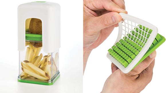 Making fries doesn't have to fry your mind—this cutter makes the process oh so smooth.