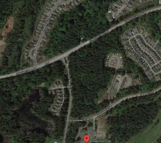 A nearly 20-acre wooded parcel at the corner of McCormick Woods Drive and Old Clifton Road in Port Orchard is slated for development. McCormick Woods residents worry loss of trees will change the character of their planned community